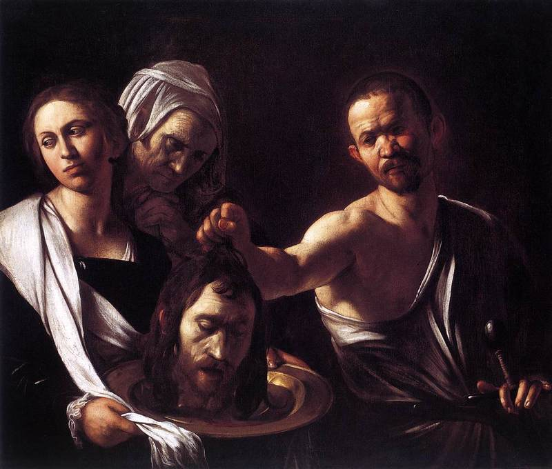Caravaggio, Salome with the Head of John the Baptist