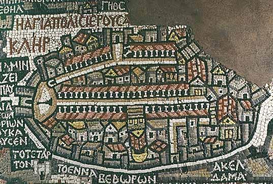 Jerusalem Madaba Map