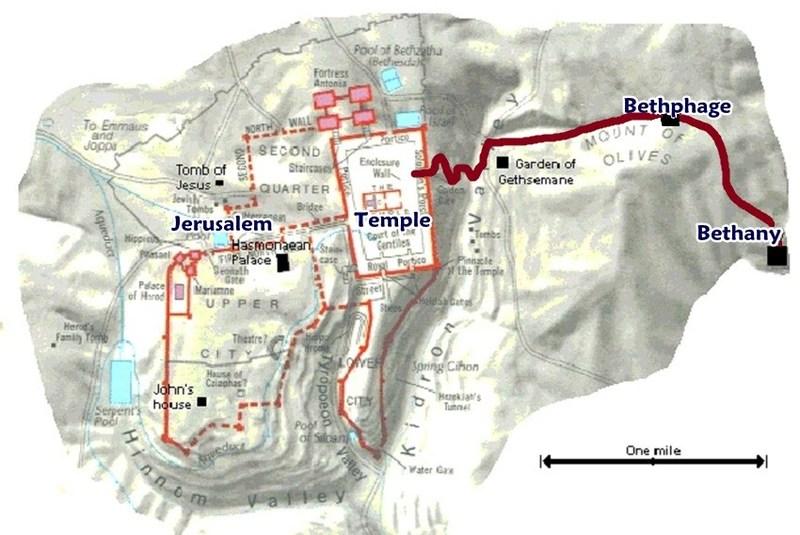 Mt Olives Map