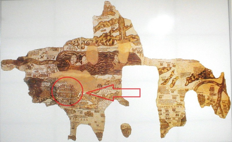Focus on Jerusalem Madaba Map