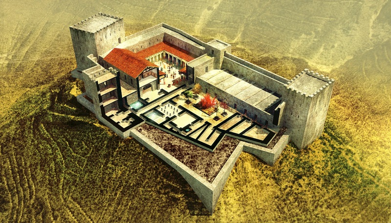 An artistic reconstruction of the fortress