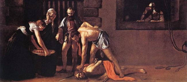 Caravaggio, Beheading of John the Baptist.