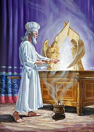 Depiction of the High Priest in the Holy of Holies